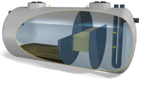 Separador de hidrocarburos para tren de lavado hidropure tren f