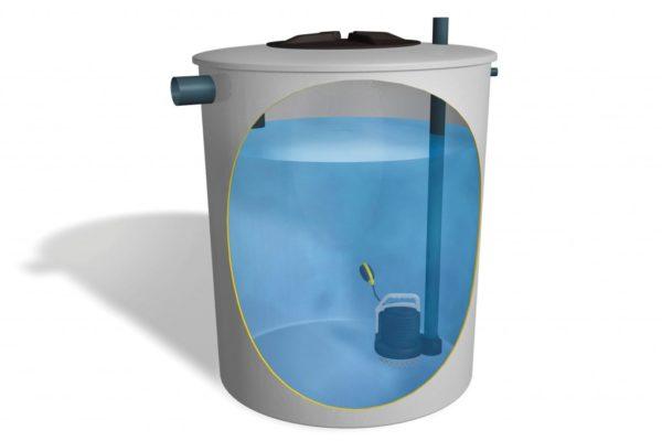 pozo de bombeo de aguas residuales